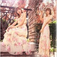 The new Bohemian chiffon of silk of tall waist skirt even clothes mop the floor condole