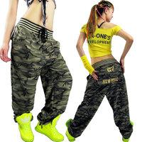 Camouflage pants women joggers 2014 cargo pants women Sportswear Large pocket Casual hip hop Hip pants for women Punk military