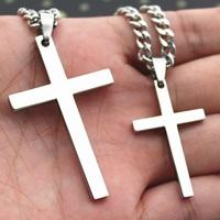 Cross lovers necklace male fashion titanium pendant female necklace jesus lettering