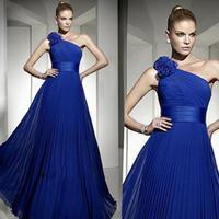 2015 new arrival fashion long design formal dress  party dresses the blue bride evening dress w034