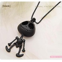 Promotion! Wholesale!  Fashion lady women jewelry cute alloy skeleton pendant long necklaces SN098