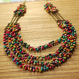 (Mix order ) Vintage women's long design sweater decoration bohemia turquoise wood bead necklace