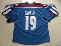 New Hockey Jerseys Avalanche #19 Sakic Jersey Blue Color Size 48-56 Stitched Mix Order All Team Jerseys