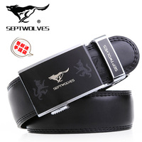 SEPTWOLVES male automatic buckle strap genuine cowhide leather belt casual all-match men's luxury accessories