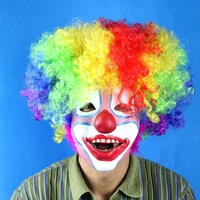 Free Shipping Halloween party props clown mask multicolour kinkiness with Good Price