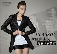 Freeshipping!2013 new style fashion womenleather jacket,women Slim-fitting Motorcycle leather jacket coat  S-XL
