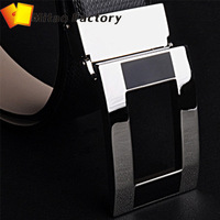 2013 Fashion Genuine Leather Premium Metal Mens Business Casual Strap Man box buckle Belt Men's Belt Free Shipping