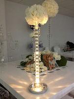 Led Wedding Centerpiece Vases Lot Of 50. Silver Base Decorations
