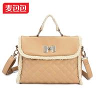 Ningjing  spring space bow fashion velvet women's handbag cross-body handbag
