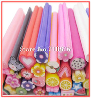 Big Promotion! (500pcs/set) Polymer Clay Nail Art Cane Stickers Rod Decoration Fruit Flowers Free Shipping+Free Blade