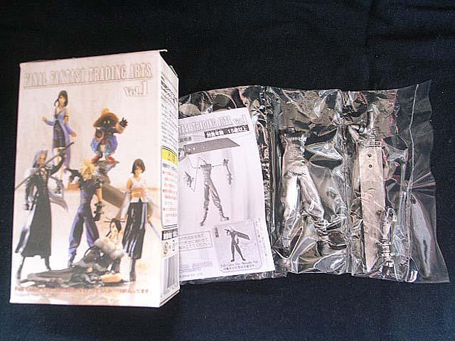 Final Fantasy 7 VII Vol.1 Trading Arts Cloud Strife Metallic Ver Figure MIB(China (Mainland))