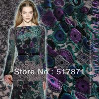Free Shipping 2014New Fashion High Quality Slopwork Silk Velvet Georgette Dress Evening Dresses Velvet Fabrics Factory Wholesale