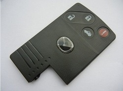 Mazda 4 button smart card shell(China (Mainland))