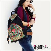 New Embroidered Backpacks Chinese Handmade Travel Backpack Miya