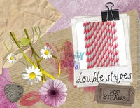 "5"" size Paper Straws with more than 117 colors mixed,  2000pcs/lot, and Opp bag 25pcs packing,Dots,Chevrons, Stripe, Star red"
