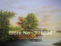 Free shipping The Picture Handmade Scenery Oil Painting Canvas craft Landscape Paint Huge wall decoration Oils Art pt111
