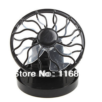 Solar Powered Clip-On Mini Cell Fan Black