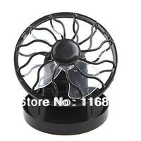 Solar Powered Clip-On Mini Cell Fan Black
