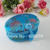 Jewellery Box Jewelry Gift Box Pendant Box Silk Fabrics Tassel Color Oval Gift Boxes 10pcs mix Free