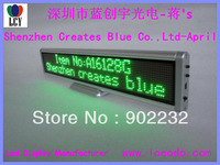 MiniLED Display;2pcs/lot;SMD;Prorammable led message sign;2 lines;Green color indoor led digital board;pitch:3mm;fast ship