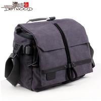 Floodwood 100% cotton canvas male bag for canon camera bag camera bag women's handbag shoulder bag