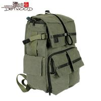 Floodwood canvas bag male backpack outdoor camera bag waterproof shock package women's handbag