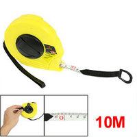 Yellow Shell Metric Retractable Ruler Fiberglass Tape Measure 10M x 12mm free shipping