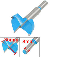 2 Pcs Forstner Tip Hinge 35mm Dia Boring Bit Drill for Carpentry Blue Gray free shipping