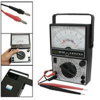 Electrical AC DC Volt Ammeter MF47A Analog Multimeter Multitester Black White free shipping