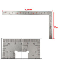 Stainless Steel 150 x 300mm 90 Degree Angle Metric Try Mitre Square Ruler Free shipping