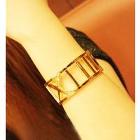 High Quality!! Wholesale Retro Silver/Gold Bangle Women Wide Bracelet Hollow Roman Number Bracelet Bangles,Free shipping,BR008