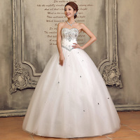 2013 new arrival wedding dress bandage luxury rhinestone tube top skirt wedding dress diamond