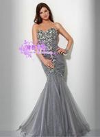 TOP CUSTOM MADE mermaid bridal evening dress evening dress formal dress long design tube top fashion