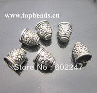 Free Shipping! Antique silver Beads Caps, Silver Tube Bead End Caps, 50pcs/lot