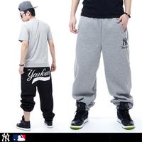 Hiphop 100% cotton loose plus size plus size ny male hiphop skateboard sports hip-hop pants bboy health pants