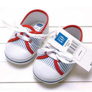 Free shipping Classic blue stripe red sneakers baby shoes baby shoes toddler shoes children shoes xz4