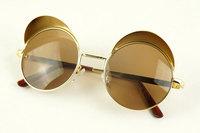 2013 new fashion Quality alloy frames cap sunglasses punk rock vintage glasses for women men 130391