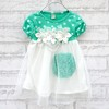 4 pcs/lot 2013 Summer Children Kids Clothing Girls Flower Dresses Dot Design Fashion Wear AA5249