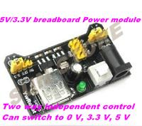 Free Shipping 2pcs/lot 5V/3.3V breadboard Power module Breadboard Power Supply Module 3.3V/5V MB102 Solderless Board DIY