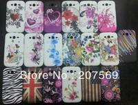 Flower soft TPU Gel Case for samsung Galaxy Grand i9082 free shipping