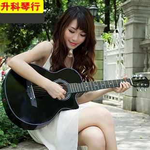 free shipping New arrival 38 nylongtr folk guitar dull black bundle