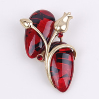 Brooch fashion accessories gem fashion jewelry fashion vintage resin craft gift decoration