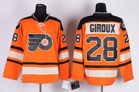 Philadelphia Flyers #28 Claude Giroux Stitching Orange colors hockey jerseys