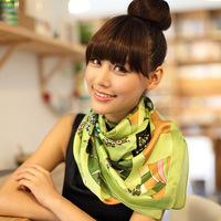 Free Shipment 2013 NEW Arrival silk square scarf forLady 7 Colors