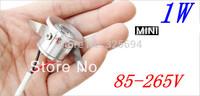 30pcs/Lot 1W Mini LED Star light, led cabinet light, mini led downlight 85-265v CE ROHS ceiling lamp free shipping