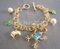 Minimum order request $9.99 Bets8y (U can mix order)  Johns0n romantic heart frog charm bracelet J06