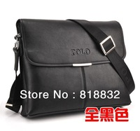 Wholesale High Quality Fashion 2013 Hot Selling Genuine Leather POLO Shoulder Handbag Men's Messenger Bags Free Shipping BRF005