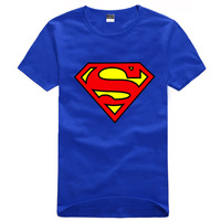 Trend 2013 summer personality superman super man short-sleeve T-shirt lovers male casual 100% cotton