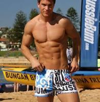 Fashionable Man Beach Bathing Straight Angle Swimming Trunks Underwear Sexy Movements Shorts Fashion leisure Free shipping