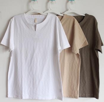 Muji muji 2012 cotton high quality Men summer 100% cotton o-neck short-sleeve T-shirt